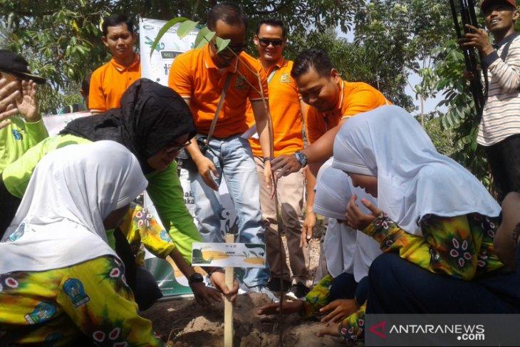 Pelajar SMPN 1 Binuang tanam 25 jenis bibit pohon langka hutan Kalimantan