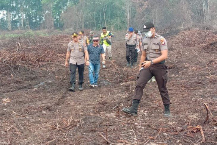 Polres Sintang segel lahan perusahaan terkait karhutla