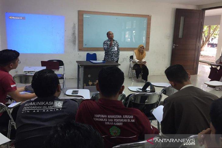 Kabiro Antara Aceh Beri Kuliah Jurnalistik untuk Mahasiswa UIN Ar-Raniry