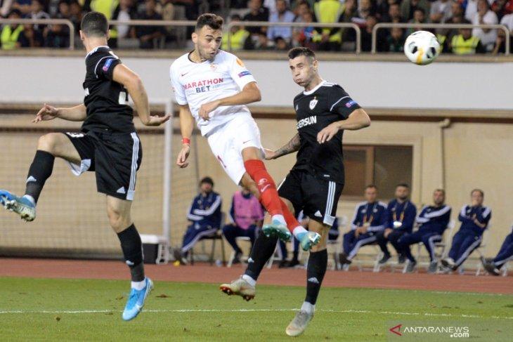 Sevilla tanpa kesulitan amankan kemenangan 3-0 di markas Qarabag