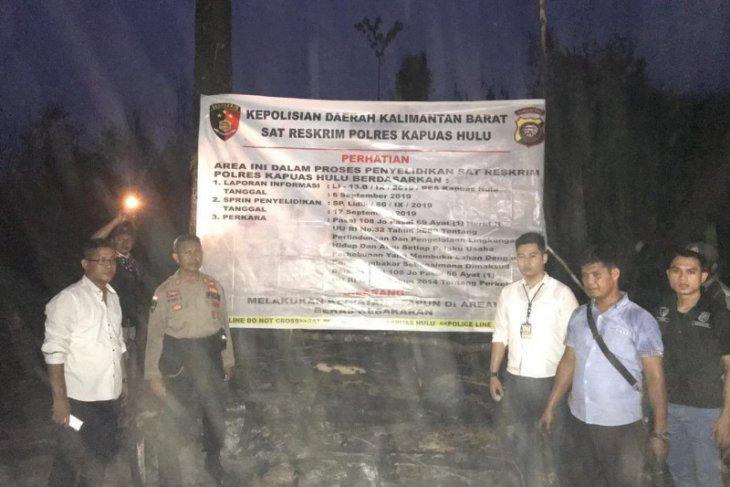 Polisi segel perusahaan sawit di Semitau terkait kebakaran hutan-lahan