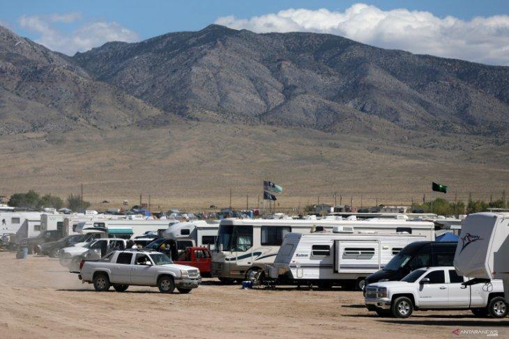 Festival mahluk luar angkasa (UFO) dirayakan di Gurun Nevada, Amerika