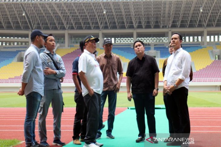 Erick Tohir kagum melihat fasilitas Stadion Manahan