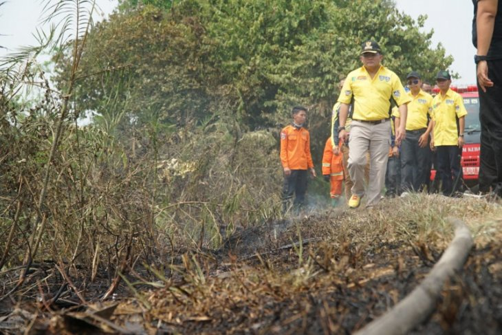 Four people named suspects in land and forest fires in S Sumatra