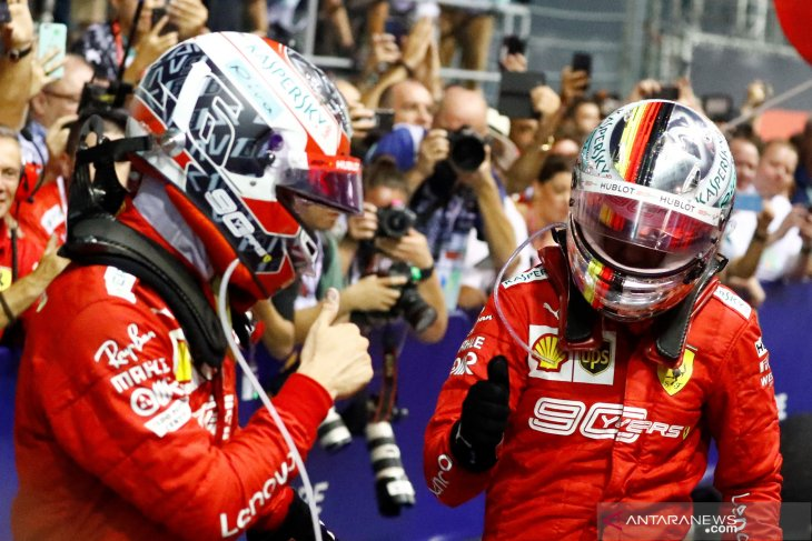 Duo Ferrari perkasa di GP Singapura