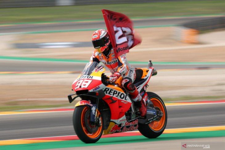 Marc Marquez juara GP Aragon
