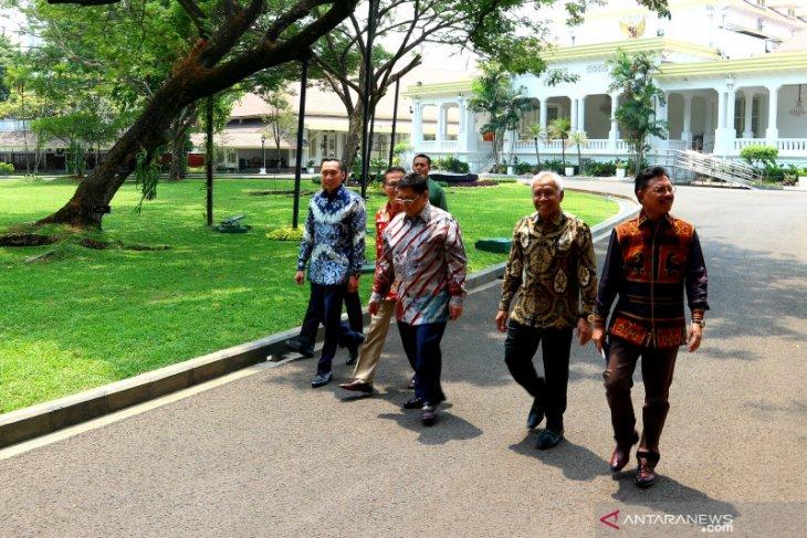 Pimpinan DPR RI bertemu Presiden Jokowi di Istana Merdeka Jakarta
