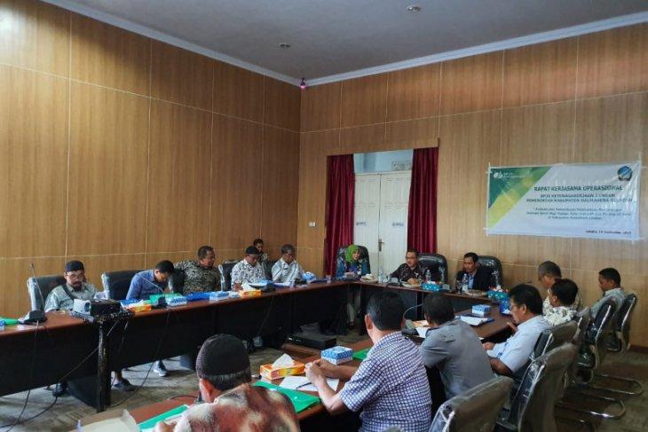 Pemkab Halmahera Selatan-BPJS Ketenagakerjaan rapat kerjasama operasional