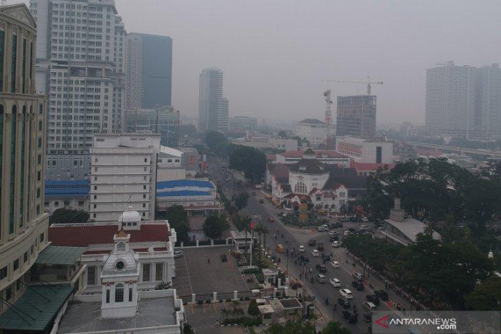 Kabut asap di Medan