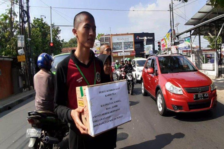 Mahasiswa Polbangtan Bogor galang dana untuk korban asap karhutla