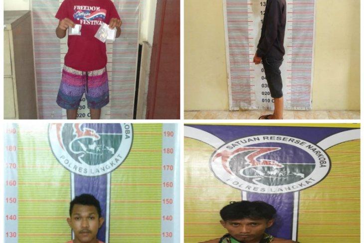 Polres Langkat tangkap empat pemilik narkotika