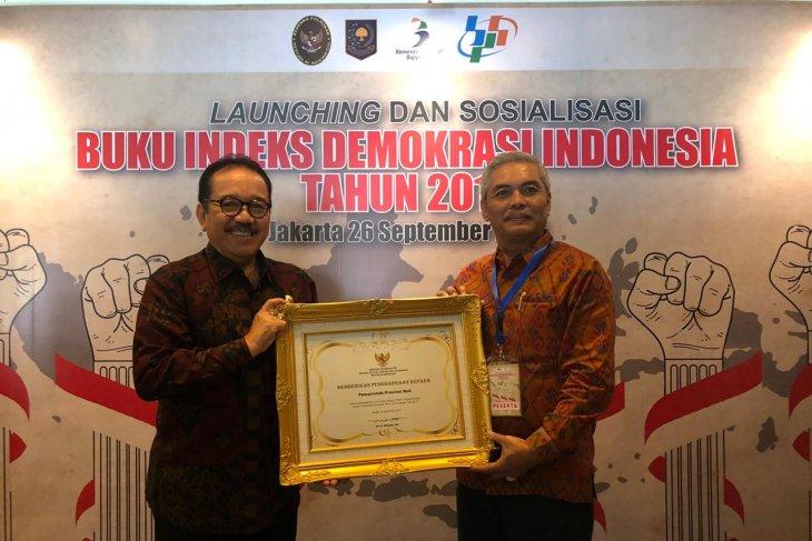 Bali terima penghargaan indeks demokrasi tertinggi kedua di Indonesia