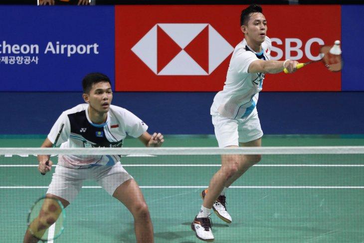 Tekuk unggulan ketiga, Fajar/Rian melaju ke final Korea  Open 2019