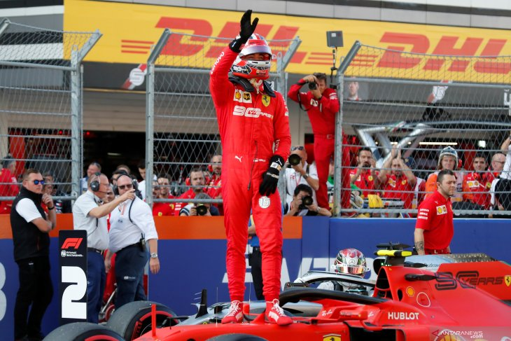 GP Rusia,pembalap Ferrari  Leclerc raih pole position