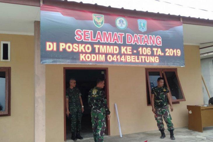 Kodim 0414 Belitung dirikan posko TMMD ke-106