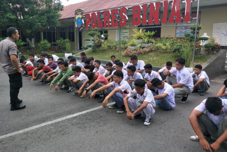 Polres Binjai amankan 42 siswa yang ingin berdemo