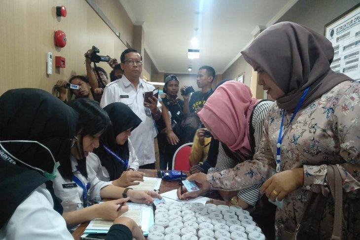 132 bakal calon kades Sampang jalani tes urine di BNNP Jatim
