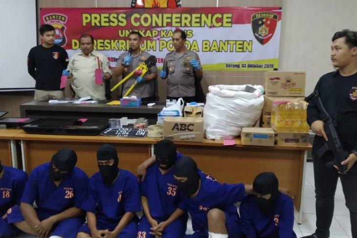 Ditreskrimum Polda Banten ungkap 15  pencurian mini market, bekuk tujuh tersangka