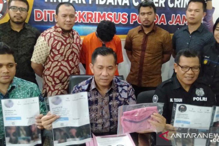 Polda Jambi tangkap penyebar foto bugil di Palembang