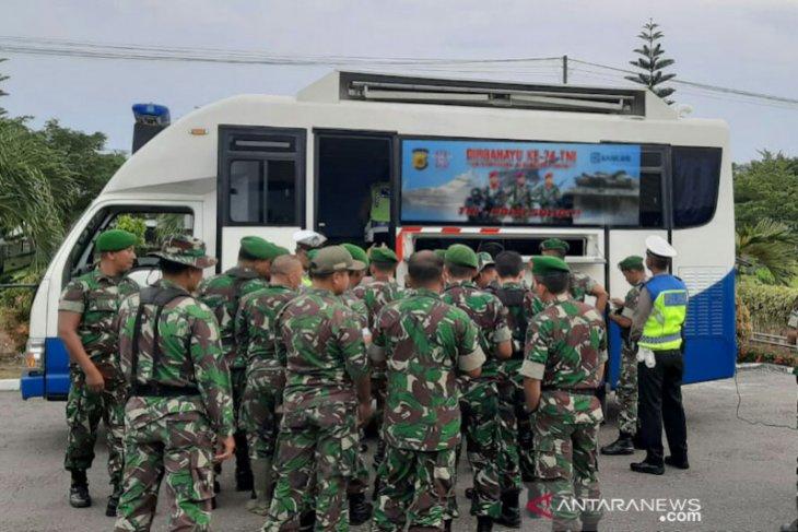 Polantas Bireuen gratiskan SIM bagi prajurit sebagai kado HUT TNI