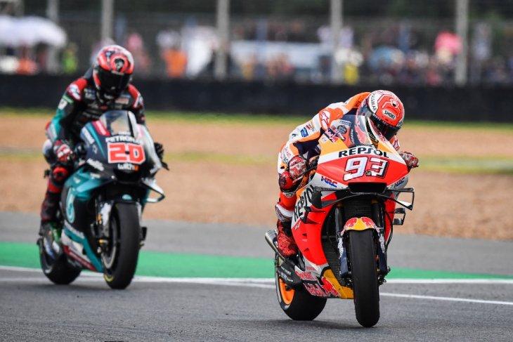 GP Thailand, Marquez ulangi duel sengit dengan Quartararo