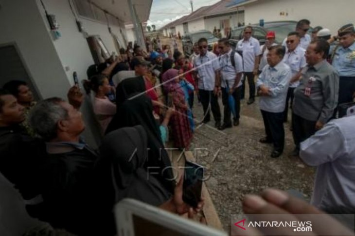 Wapres JK tinjau perkembangan pemulihan pascabencana di Kota Palu