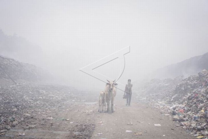 Dampak asap kebakaran TPA sampah Putri Cempo