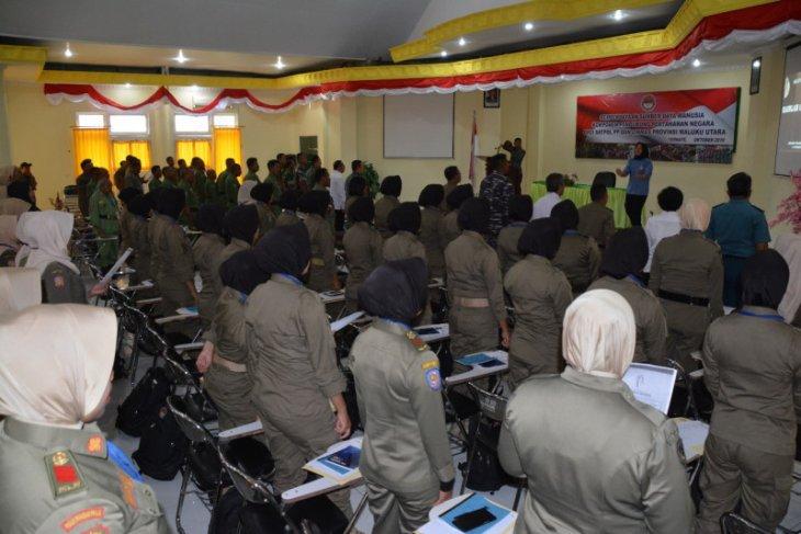 Kemhan sosialisasi wawasan kebangsaan bagi personel Pol PP Malut