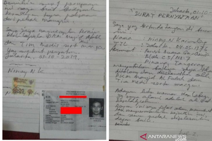 Alumni 212 nyatakan belum dapat pastikan keabsahan surat pernyataan Ninoy