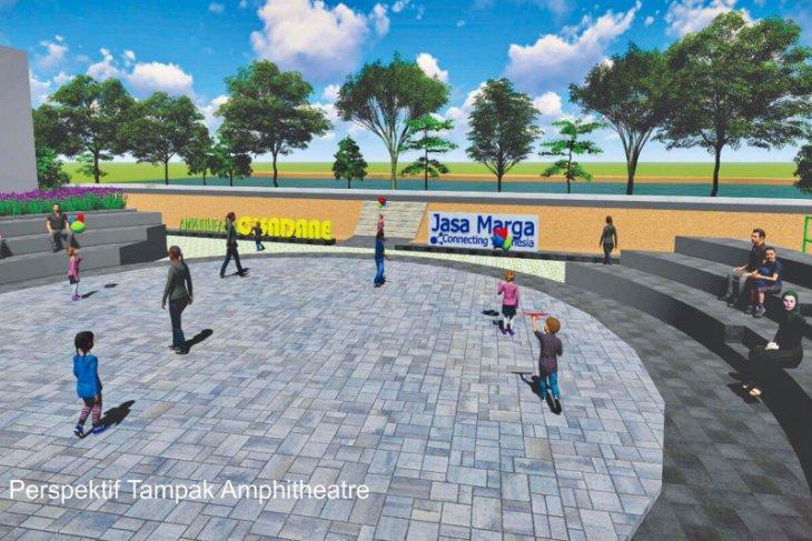 Bantaran sungai cisadane dilengkapi amphiteater dan taman bermain anak