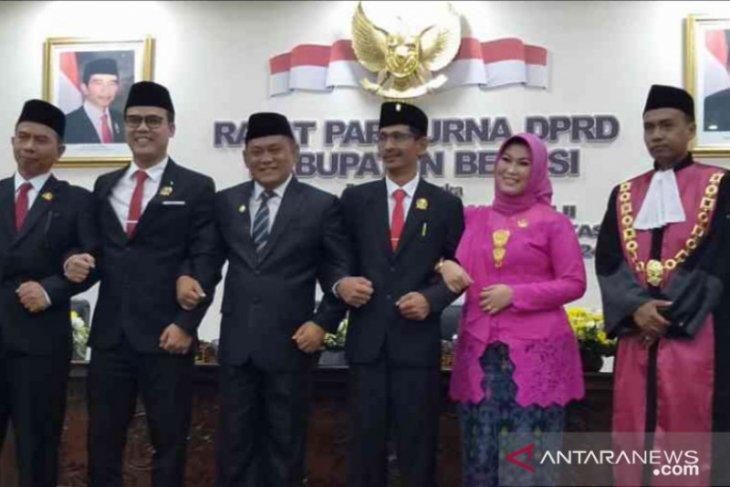 Aria Dwi Nugraha resmi jabat Ketua DPRD Kabupaten Bekasi