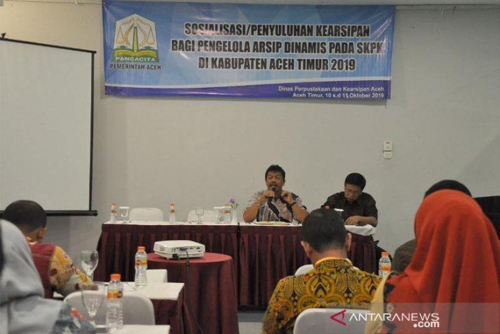 Aceh Timur gelar sosialisasi penyuluh kearsipan