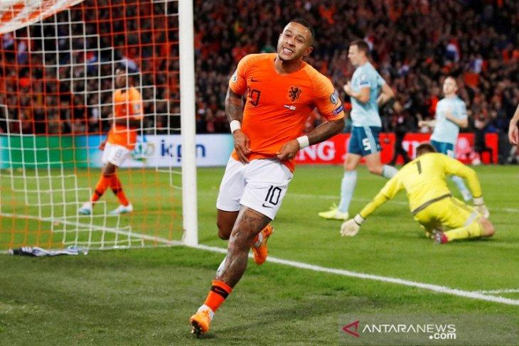 Kualifikasi Piala Eropa, Belanda rebut puncak Grup C usai tundukkan Irlandia Utara
