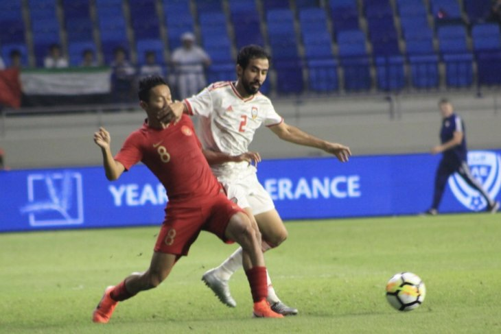 Tak berdaya,Timnas Indonesia dibenamkan UAE 5-0