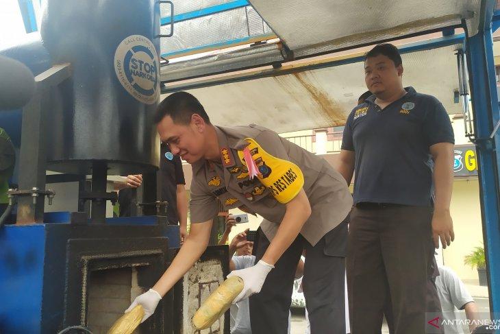 Polrestabes Medan musnahkan ribuan gram narkotika