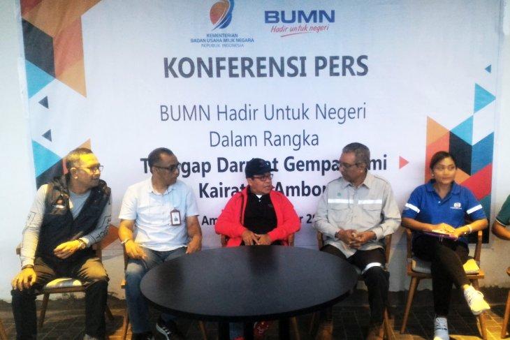 BUMN salurkan Rp3,04 miliar untuk korban gempa Maluku, dana dari berbagai badan usaha