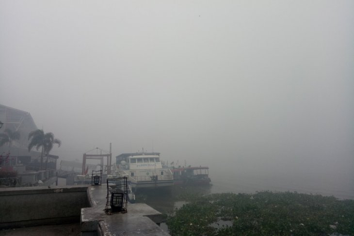 Haze cover over Palembang thickens: Walhi