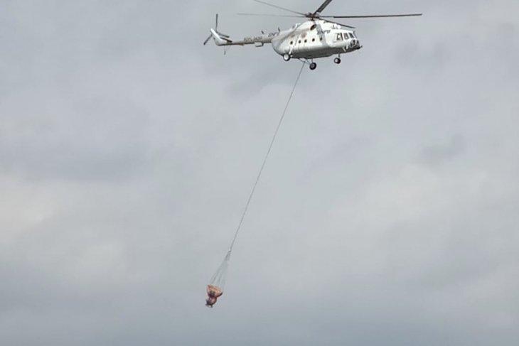 Pemadaman api Gunung Arjuno, Jatim datangkan helikopter