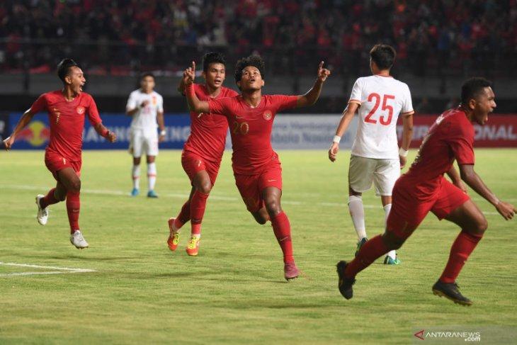 Timnas U-19 Indonesia taklukkan China 3-1, dalam pertandingan uji coba