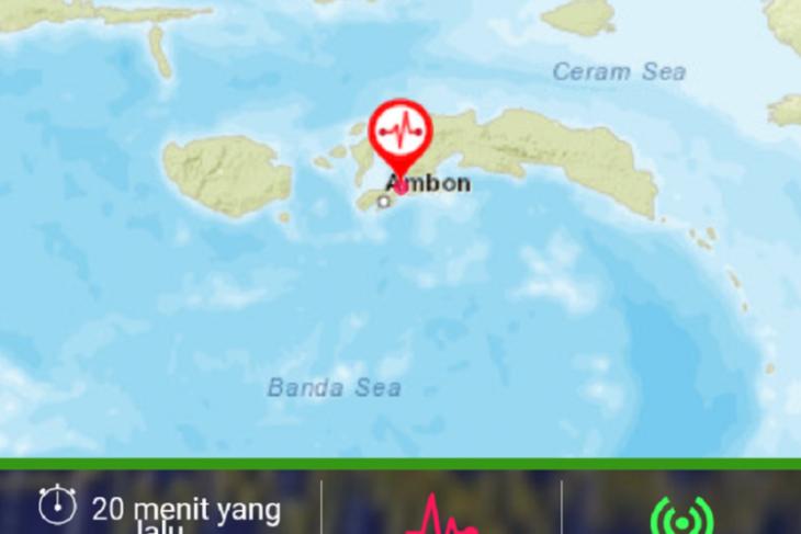 Gempa tektonik 40 magnitudo  kembali guncang tiga lokasi di Maluku