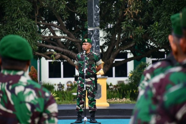 Jelang pelantikan  presiden prajurit Kodam I/BB apel siaga
