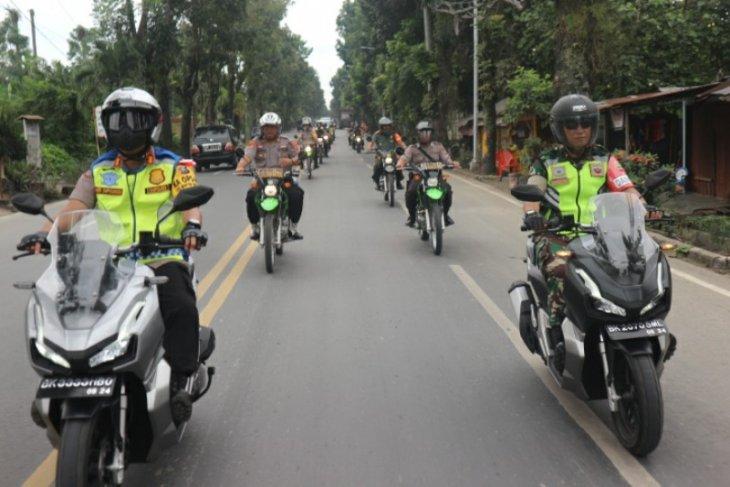 Tim gabungan keamanan patroli di Serbalawan Simalungun
