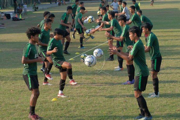 Timnas U-19 Indonesia berlatih jelang lawan China