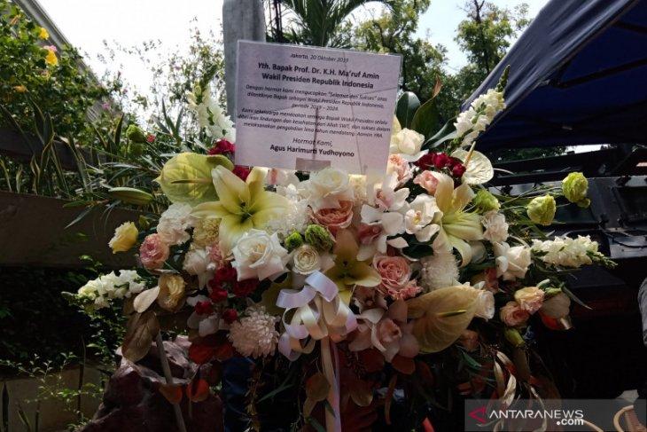 AHY kirim karangan bunga untuk Ma'ruf Amin
