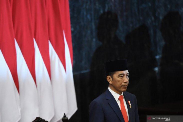 Pelantikan Presiden, Jokowi ingin Indonesia tidak terjebak rutinitas-monoton