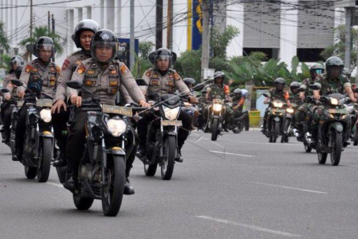 Pangdam I/BB monitoring situasi Kota Medan saat pelantikan presiden