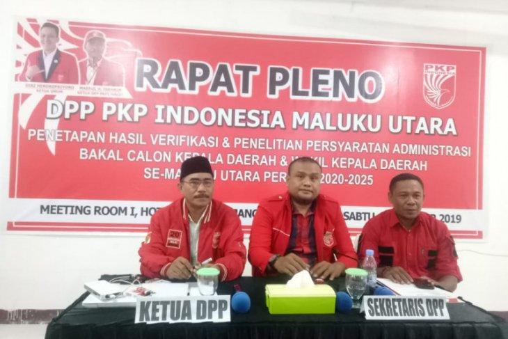 DPP PKPI Maluku Utara pleno tetapkan balon Pilkada