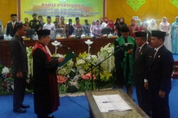 Pelantikan pimpinan DPRK Aceh Tamiang tanpa wakil Demokrat