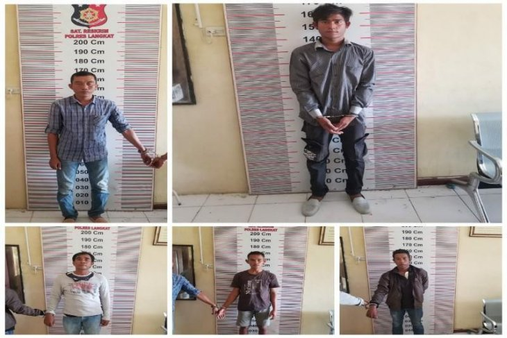 Polisi Pangkalan Susu tangkap lima nelayan nyabu di sebuah rumah