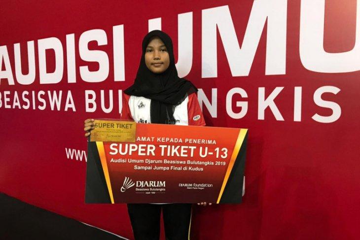 Dian Mukti, anak Aceh Barat dapat tiket beasiswa bulutangkis